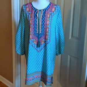 Tops - Multi-colored tunic, nwot